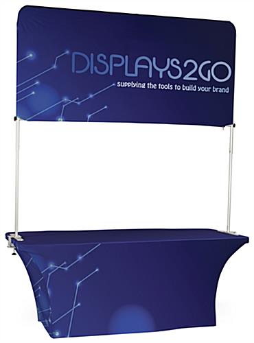 6' Trade Show Table & Header with Stretch Tablecloth & Double Sided Banner
