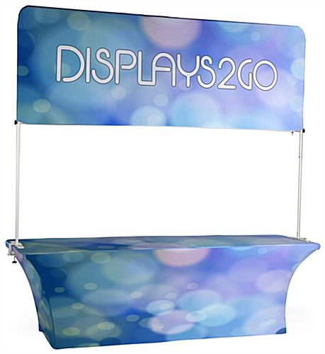 The 8' Trade Show Table and Header with Custom Printed Full Color Graphics