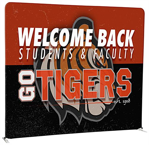 8' Trade Show Booth Backdrop with Custom Printed Graphics