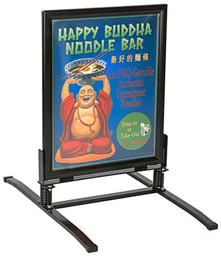 "Use this Outdoor Sign Stand to Display Two 22""x 28"" Posters"
