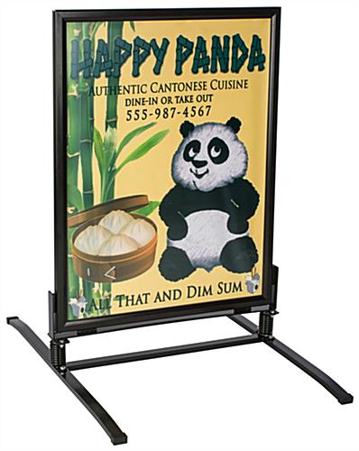 Use This Wind Resistant Sidewalk Sign to Advertise In Sunshine or Rain