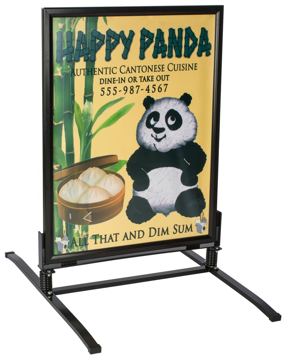 Wind Resistant Sidewalk Sign 2 Sided Magnet Lined Poster