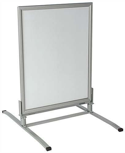 Weatherproof Sandwich Board w/ Steel Base & Snap Frame