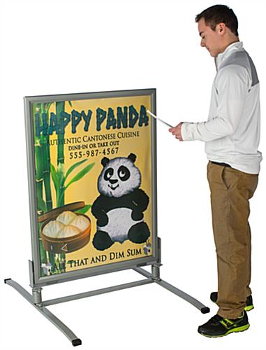 Weatherproof Sandwich Board w/ PVC Anti-Glare Lens