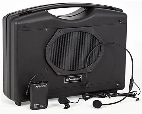 Portable wireless dual sound system with 6 x 8 Jensen speaker
