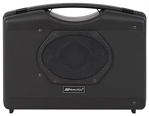 Portable personal sound system briefcase-style enclosure