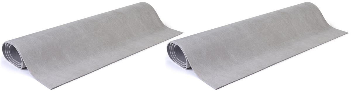 10' x 10' Rollable Padding for Carpet, Set of (2) 5' x 10' Strips - Gray