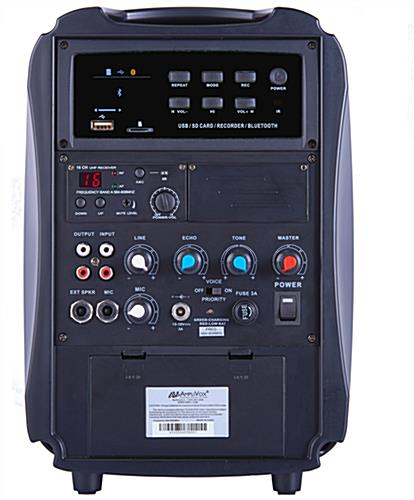 All-in-one wireless compact PA media system with multiple inputs