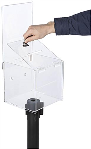 Locking Ballot Box Stanchion Topper