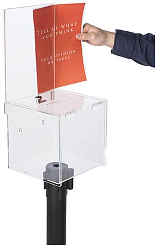 8.5 x 11 Insert Ballot Box Stanchion Topper