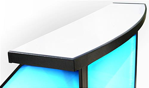 "Curved Counter LED 40"" Portable Bar"