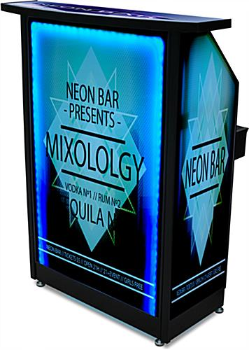 "Lighted Custom Graphic LED 40"" Portable Bar"