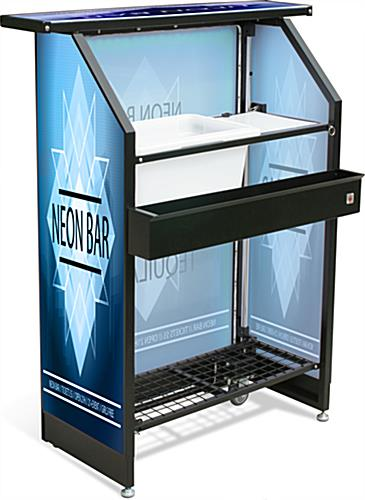 "Rolling Custom Graphic LED 40"" Portable Bar"