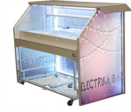 "Embedded Lights Custom Graphic LED 65"" Portable Bar"