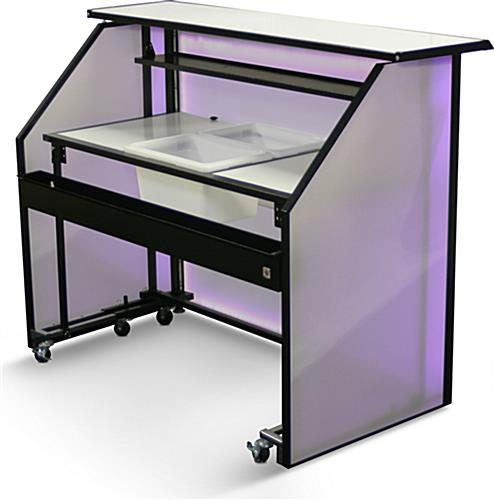 "Accessorized LED 62.75"" Portable Bar"
