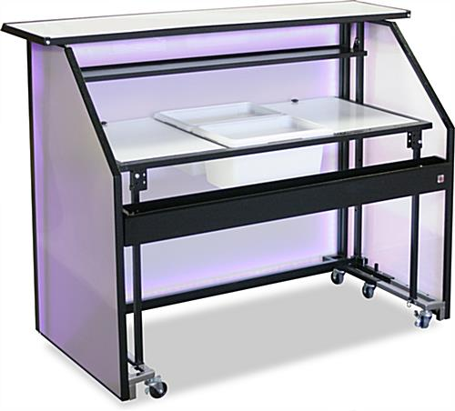 "67.5in Wide LED 62.75"" Portable Bar"