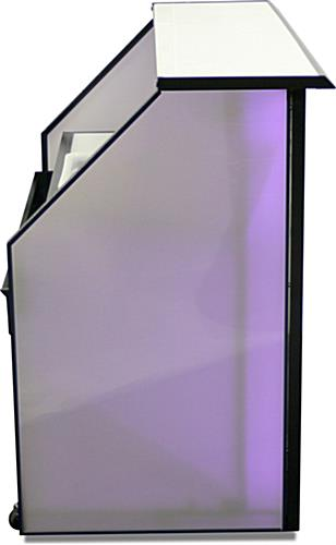 "Straight Top Counter LED 62.75"" Portable Bar"