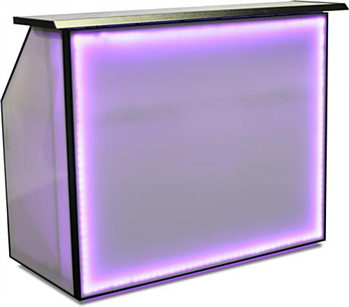 "Lighted LED 62.75"" Portable Bar"