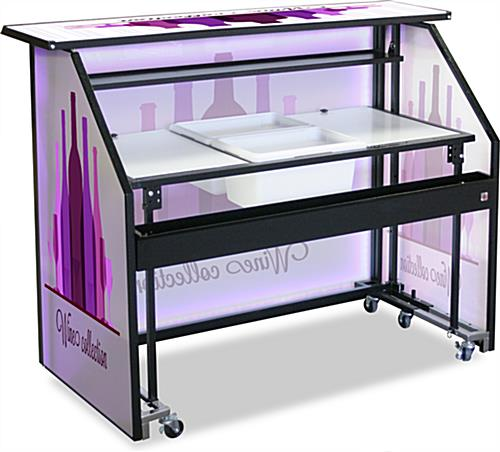 "67.5in Wide Custom Graphic LED 62.75"" Portable Bar"