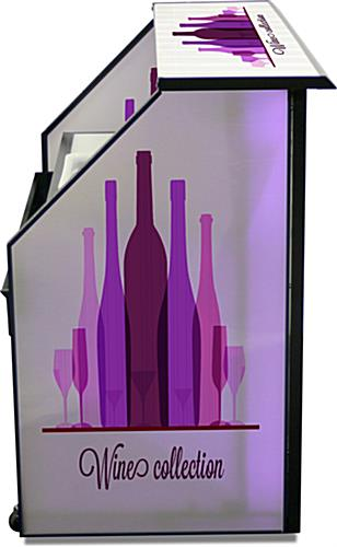 "Straight Top Counter Custom Graphic LED 62.75"" Portable Bar"