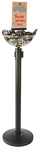 "7"" x 11"" Sign Holder Black Stanchion & Post with Bowl"