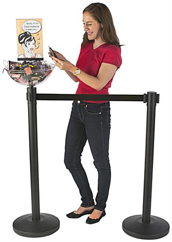 Product Placement Black Stanchion & Post with Bowl
