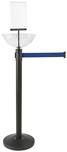 "14"" Diameter Blue Stanchion & Post with Bowl"