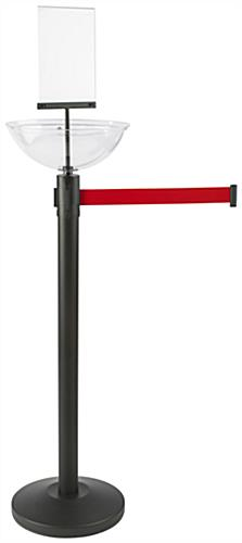"14"" Diameter Red Stanchion & Post with Bin"