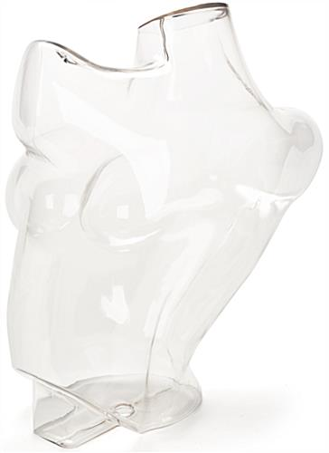 Shatterproof Clear Mannequin Bust