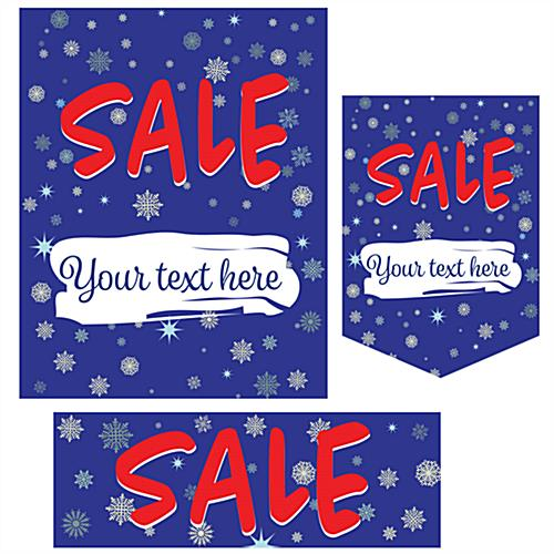 Seasonal sale retail poster multi-pack with 3 designs