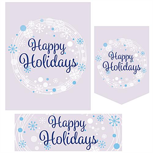 Happy Holidays bulk poster pack with 3 different sizes