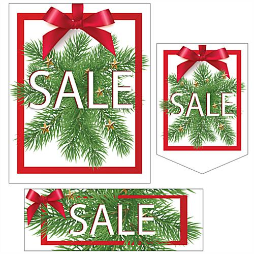 Multi-pack Christmas Sale retail sign kit with pre-printed message