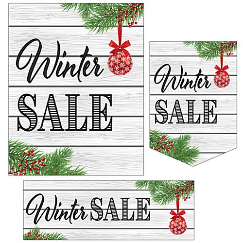 Multipack of Winter Sale posters in multiple styles