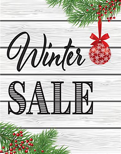 Multipack of Winter Sale posters with pre-designed graphics