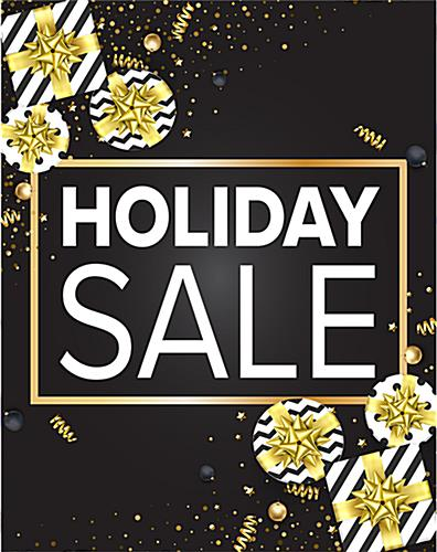 Multiple size holiday retail poster set