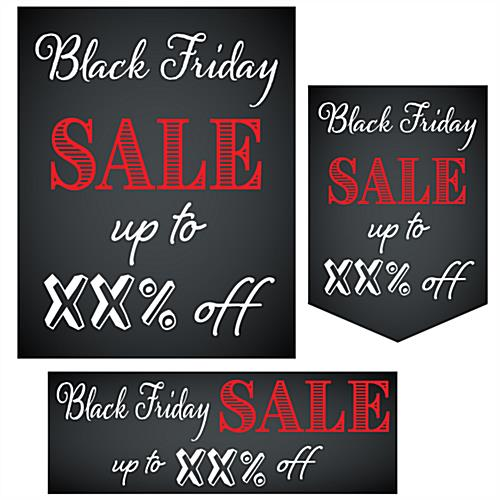 "Multipack ""Black Friday"" business banners in varying sizes"