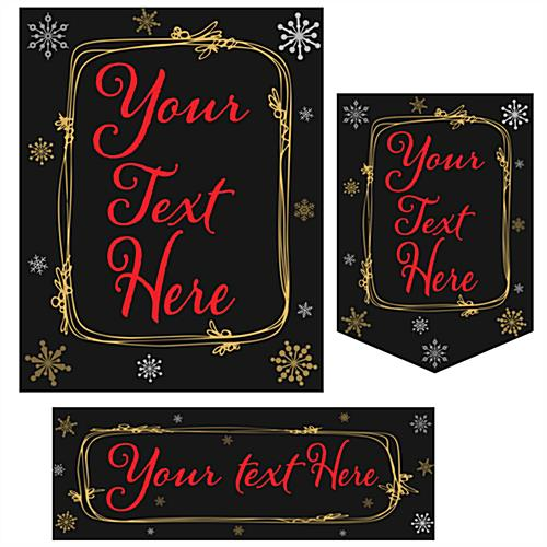Multipack custom holiday business posters in 3 styles