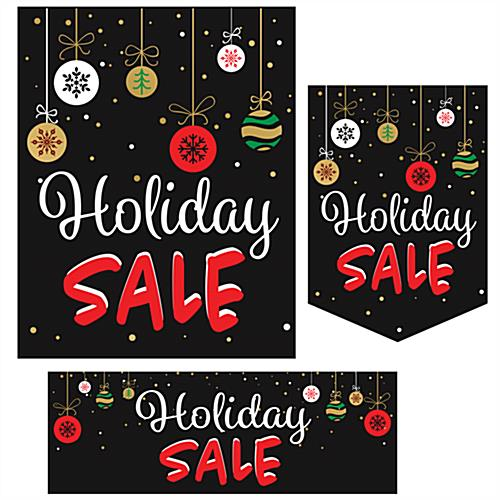 "Multipack of ""Holiday Sale"" business posters in 3 styles"