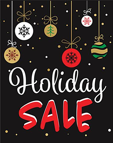 "Multipack of ""Holiday Sale"" business posters with black background"