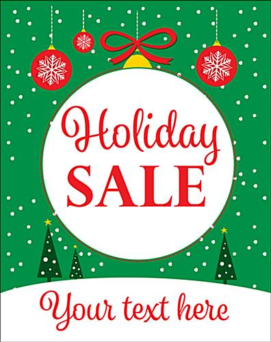 "Bulk pack custom ""Holiday Sale"" business posters with ornament design"