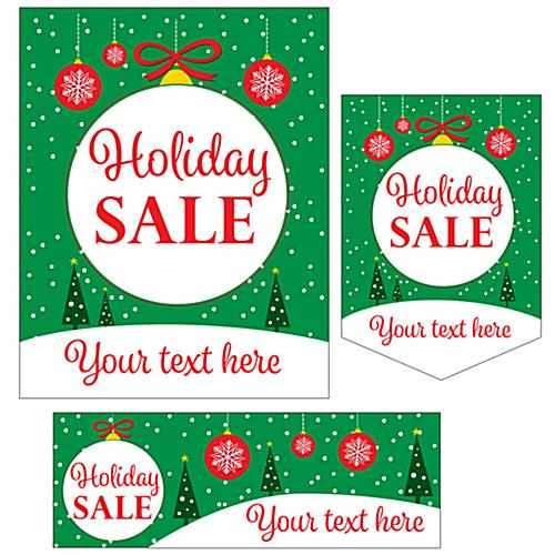 "Bulk pack custom ""Holiday Sale"" business posters with 3 sizes"