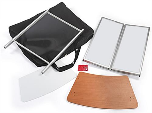 Mobile sneeze guard tabletop with hardware included