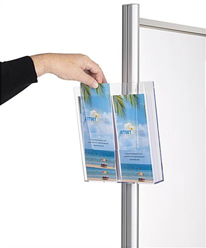 Social distancing brochure holder for PCSG series with easy installation