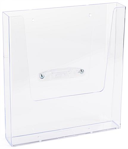 8.5 inch x 11 inch social distancing brochure holder for PCSG series