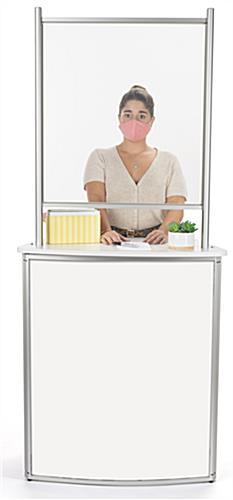 Portable counter with hygiene barrier to stop the spread of germs