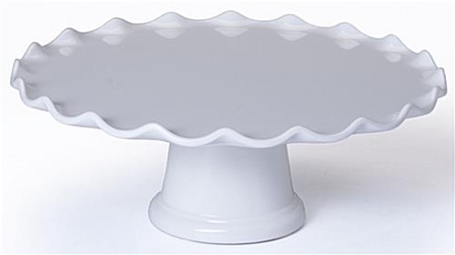 White Pedestals Made From Plastic