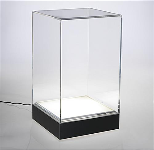 Interior lit LED counter pedestal case