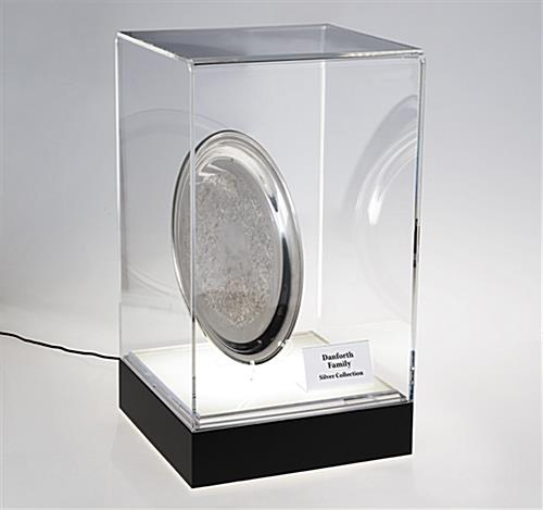 Acrylic top LED counter pedestal case