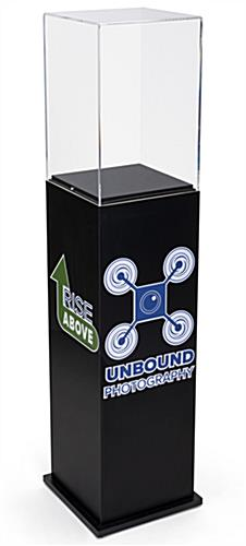 Custom acrylic display pedestal for high-end retail