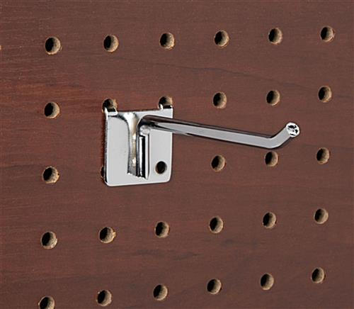 4 inch retail peg hooks fit one quarter inch wood pegboards